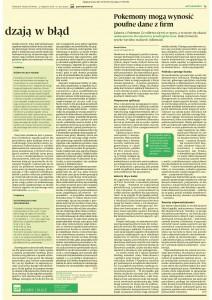 Artykuł Gazeta Prawna PG - Pokemon Go2 04.08.2016